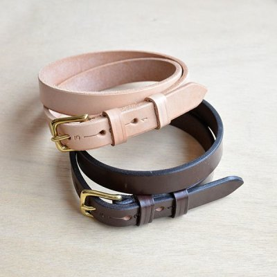 画像1:  JABEZ CLIFF / STIRRUP LEATHER BELT (2.0cm幅)