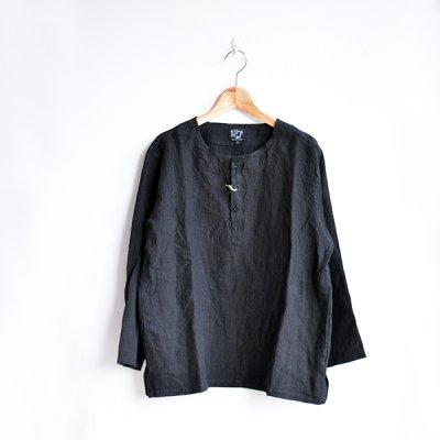 """画像1: orslow / UNISEX PULLOVER Linen """"BLACK"""""""