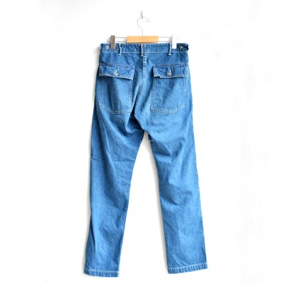 画像2: orSlow/ SLIM FIT FATIGUE PANTS denim 2 year wash