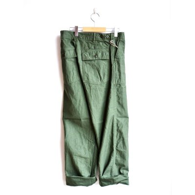 画像2: orSlow/ U.S.ARMY FATIGUE PANTS グリーン