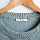 MORE DEDAIL1: YAAH/ CREW NECK SWEATER -COTTON CASHMERE-