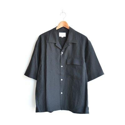 画像2: STILL BY HAND / Linen Open Collar S/S Shirts