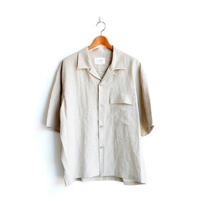 画像1: STILL BY HAND / Linen Open Collar S/S Shirts