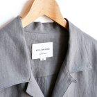MORE DEDAIL1: STILL BY HAND / Linen Open Collar S/S Shirts