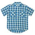 カムコ/ S/Sワークシャツ ブルー(限定生産)