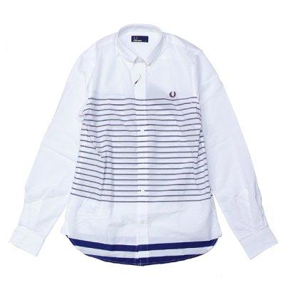 画像1: フレッドペリー/ チップド・サマー・ロングスリーブシャツ(M4268-100)