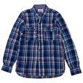 シュペリオールレイバー/ ワークシャツ ブルーチェック(13AW-SL204)