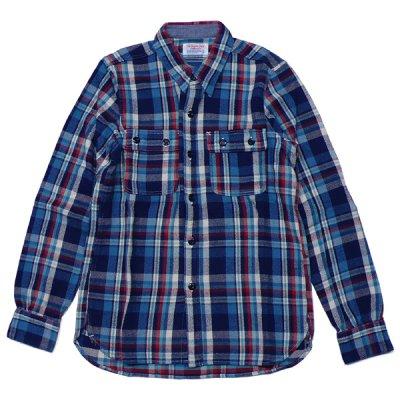 画像1: シュペリオールレイバー/ ワークシャツ ブルーチェック(13AW-SL204)