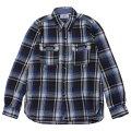 シュペリオールレイバー/ ワークシャツ ブラウンチェック(13AW-SL204)