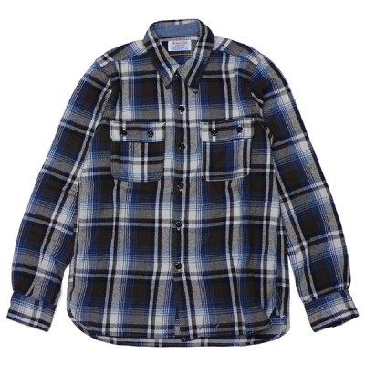 画像1: シュペリオールレイバー/ ワークシャツ ブラウンチェック(13AW-SL204)