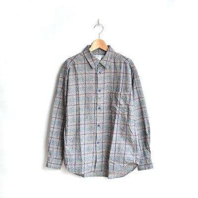 画像1: EEL products / 陶器釦のシャツ(E-19466)