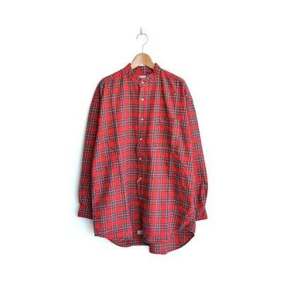 画像1: orslow / Stand Collar Long Shirt RedCheck