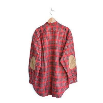 画像2: orslow / Stand Collar Long Shirt RedCheck
