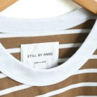MORE DEDAIL1: STILL BY HAND / オーバーサイズボーダーTシャツ(CS01212)