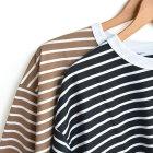 MORE DEDAIL3: STILL BY HAND / オーバーサイズボーダーTシャツ(CS01212)