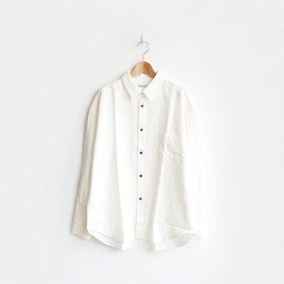 画像1: EEL products / 陶器釦のシャツ(E-20470A)