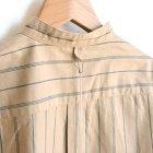 MORE DEDAIL1: *A VONTADE / Banded Collar Shirts -Cotton Viera Stripe-