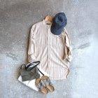 MORE DEDAIL3: *A VONTADE / Banded Collar Shirts -Cotton Viera Stripe-