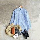 MORE DEDAIL3: *A VONTADE / Banded Collar Shirts -Cotton/Linen Chambray-