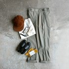MORE DEDAIL3: *A VONTADE / Officer Trousers -Taperd Fit-
