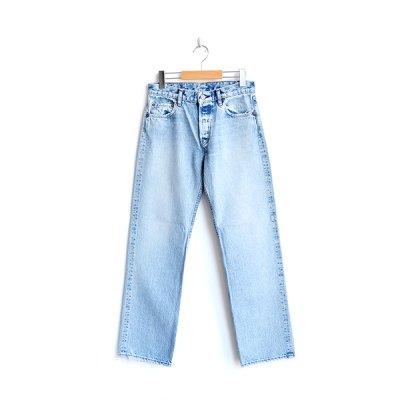 画像1: orSlow / 108 Women's Straight Cut Jeans Sky Blue