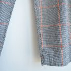 MORE DEDAIL2: HARVESTY / CHECK-PATTERN EGG TUCKED PANTS