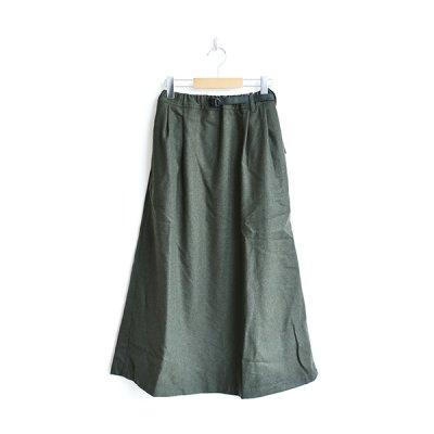 画像2: GRAMiCCi / Wool Blend Long Flare Skirt