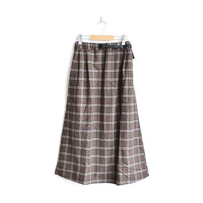 画像1: GRAMiCCi / Wool Blend Long Flare Skirt