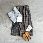 MORE DEDAIL3: GRAMiCCi / Wool Blend Long Flare Skirt
