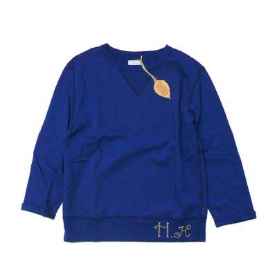 画像1: ハチガハナ×ライディングハイ / スウェットシャツ ブルー(HH-036)