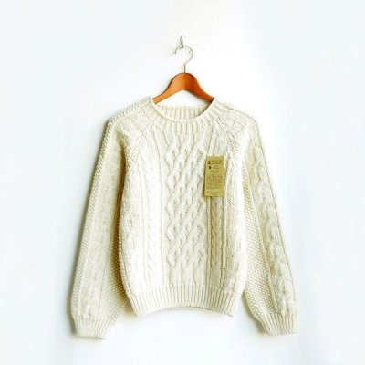 画像1: INVERALLAN / Crew Neck Cable Pattern
